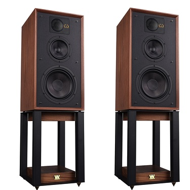 Wharfedale Linton 85th Anniversary Antique Walnut with Stand